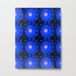 Mosaic in Blue Metal Print