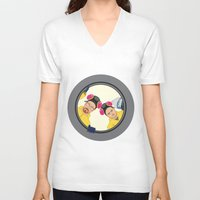 breaking V-neck T-shirts featuring Breaking by Stubarb