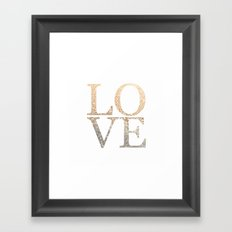 GOLD LOVE Framed Art Print