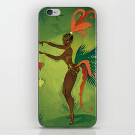 Coco LaSamba - A Burlesque Jungle Christmas iPhone Skin