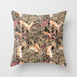 Wild life pattern Throw Pillow