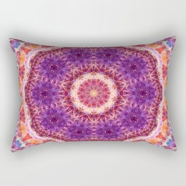 Cosmic Convergence Mandala Rectangular Pillow