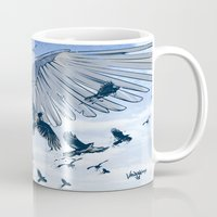 raven Mugs featuring Raven by Radical Ink by JP Valderrama