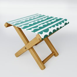 Mordidas Gradient Green Folding Stool