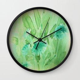 Elegant Soft Watercolor Floral  Wall Clock