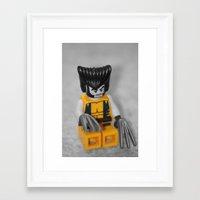 superhero Framed Art Prints featuring Superhero by liberthine01
