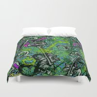 key Duvet Covers featuring Key by Emma Stein
