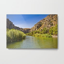 Landscape on Crete Metal Print