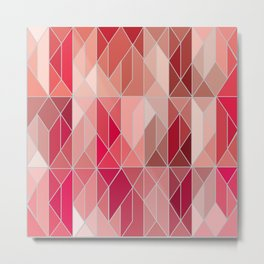 Pattern In Red Gradient Metal Print