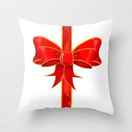 Pretty Ribbon Bow Throw Pillow