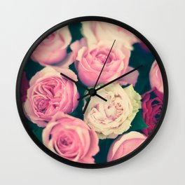 Paris gothic roses Wall Clock