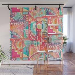 Sunshine Geometry in Watercolor Wall Mural