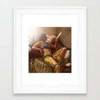 dragon age Framed Art Prints featuring Dragon Age: Josephine Montilyet by Rhoda Perdition