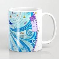 aquarius Mugs featuring Aquarius by Sandra Nascimento