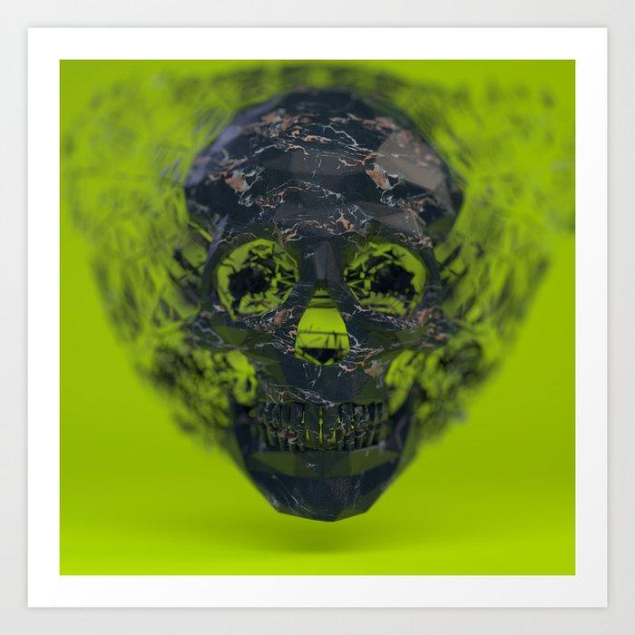 Skull Explotion Art Print
