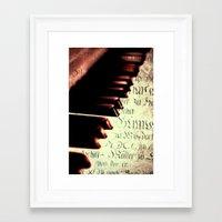 piano Framed Art Prints featuring piano by Falko Follert Art-FF77