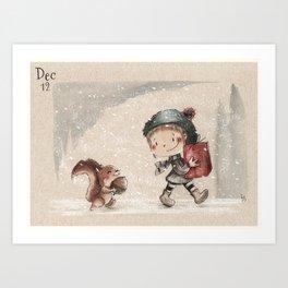 Illo Advent 12 Art Print