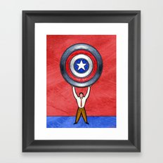 RED STATE Framed Art Print