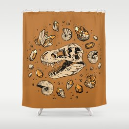 Geo-rex Vortex | Citrine Quartz Shower Curtain
