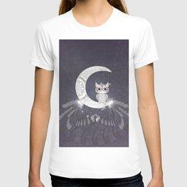 Cute owl, mandala design T-shirt