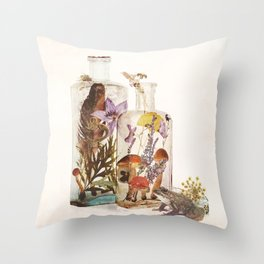 WITCH BOTTLES Throw Pillow