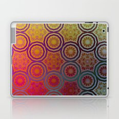 Pink, Purple, Yellow, and Orange Circles and Cogs Laptop & iPad Skin