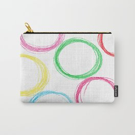 Seamless pattern background with colored pencil circles Carry-All Pouch