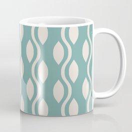 Retro Ogee Pattern 461 Green and Beige Coffee Mug
