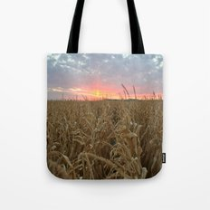 Corn Maze Sunset Tote Bag