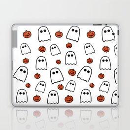 Halloween Ghosts And Pumpkins Laptop & iPad Skin