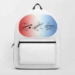 Keytar Platypus Venn Diagram RWB Backpack