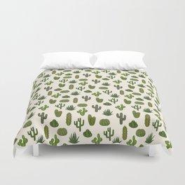 Cacti parade Duvet Cover