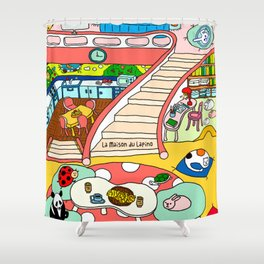 La Maison du Lapino Shower Curtain