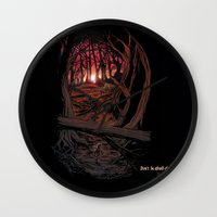 berserk Wall Clocks featuring Children In the Wood by TheMagicWarrior