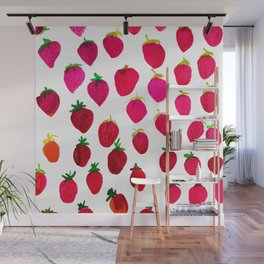 Strawberry Wall Mural