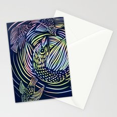 Bird swirl Stationery Cards