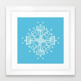 Shovelflake 2: Snowmen Framed Art Print