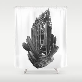 Obsidian House Shower Curtain