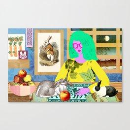 Rabbit Room Moon Canvas Print
