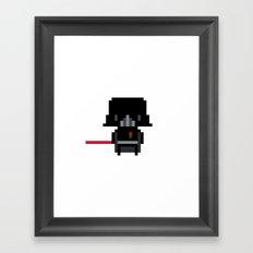 Pixel Darth Vader Framed Art Print