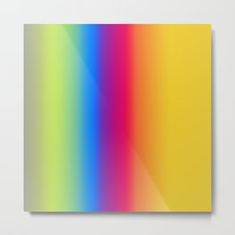Ombre Bright Colors 1 Reversed Metal Print