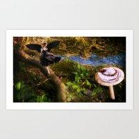 fairies Art Prints featuring Fairies by OkidAisFeraL