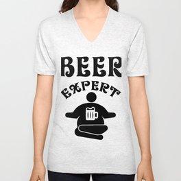 beer expert - I love beer Unisex V-Neck
