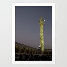 Sunset at the Mosque, Syria Art Print
