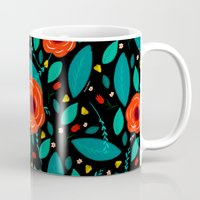 leah flores Mugs featuring Flores by Ary Marín