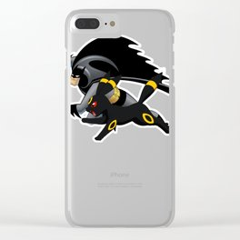 Umbreon and Batmen Clear iPhone Case