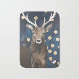 Stag with Tubbs and Goose Bath Mat