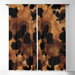 Tortoiseshell Watercolor Blackout Curtain