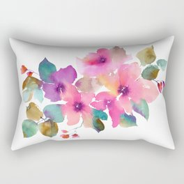 Lovely pink flowers. Watercolor florals Rectangular Pillow