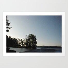 Midnight Moonlight, Algonquin Park, Canada Art Print